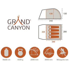 Grand Canyon Topeka 4 Telt, olive